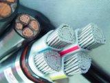 Câble d'alimentation de quatre faisceaux avec de l'acier de faisceau d'Al blindé
