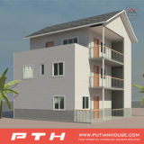 Single-Deck 호화스러운 가벼운 강철 별장 조립식 가옥 집
