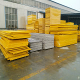 Hoja de malla de fibra de vidrio de color amarillo para el lavado de coches estructura del suelo rejilla de plástico reforzado con fibra