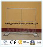 El panel redondo de la cerca de la conexión de cadena del espesor 1.60m m los 6X12FT de los tubos del Od 32m m