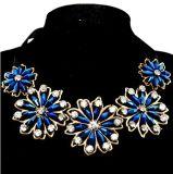 형식 꽃 모조 다이아몬드 수정같은 공단 고리 숨막히게 하는 것 목걸이 보석