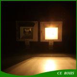 Sensor 6 Licht van de Omheining van de Lichten van de Muur van de Tuin van de LEIDENE PIR het Vierkante Openlucht ZonneLamp van de Werf Zonne Aangedreven