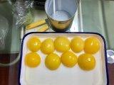820g amarelo em lata de pêssegos em calda em metades/Auxiliar