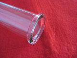 フランジが付いている透過水晶ガラス管