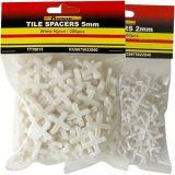 Construcción Elemento de construcción Plástico Cruzado Forma Azulejos Espaciadores Blanco