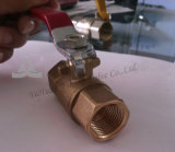 Puerto estándar de la apertura de válvula de bola de gas de latón forjado (YD-1021)
