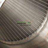 En acier inoxydable sur le fil de l'eau chaude du tuyau de pipe-line de l'écran de filtre