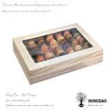 Embalajes de madera del color natural de Hongdao, Box_D de pila de discos