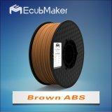 1,75mm filamento ABS de color marrón de la impresora 3D.