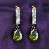 New Design copilot by Brass Emerald Zircon Jewelry Dangle drop Earrings