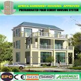 Incombustible certificada CE personalizado de nivel A1 de la casa de dos pisos prefabricados