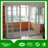 Porte française de PVC de panneau inférieur de modèle de gril