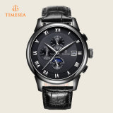 Automatic Mechanical Mens Classic Black Leather Sport Wrist Watch 72238