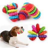 Цветастый резиновый смешной кот собаки инструмента тренировки щенка играя игрушку Chew шестерни камеди зубов игрушек