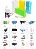 La Banca mobile portatile nera di potere del caricatore del rossetto 2600mAh di colore