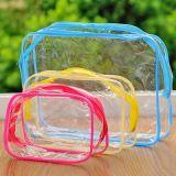 Set de viaje bolsa de cosméticos de PVC transparente