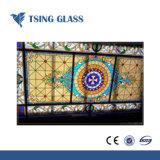 Costruzione Tempered modellata verniciata rivestita di vetro per arte della finestra del portello decorativa