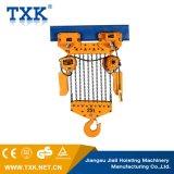 Offre de Txk élévateur à chaînes électrique de 25 tonnes avec le chariot électrique