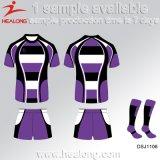 Healongのニースデザインは衣類ギヤ昇華年長のラグビーリーグジャージを遊ばす