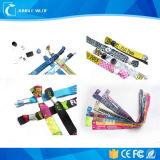 Изготовленный на заказ сплетенный тканью Wristband RFID с обломоком 13.56MHz/12.5kHz внутрь для случая