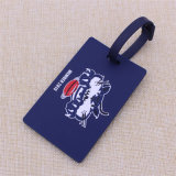 Tag de cão da etiqueta da bagagem do PVC macio de 3D da fábrica com logotipo personalizado