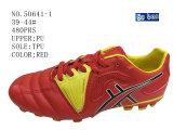 Trois couleurs PU chaussures de football masculin