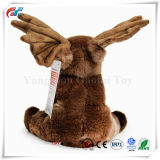 9 Polegadas olhar realista animais taxidermizados Plush Moose Toy