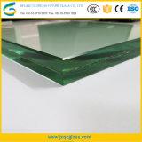 Прозрачный большим 15мм ламинированные закаленного стекла