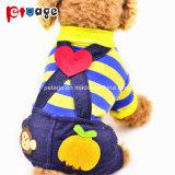 子犬ペット供給のばねの柔らかいオーバーオール犬はペット製品に着せる