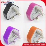 Mobile Phone UK Plug Emergency pour iPhone Single USB Travel Charger