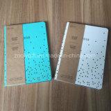 Cor do logotipo de estampagem de prata PU Agenda Couro um Notebook promocional6 portátil de bolso