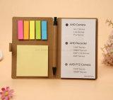 Almofada de memorando da beleza com tipo pegajoso da abertura do bloco de notas da nota de 5 cores