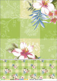Tablecloth impresso do PVC da forma película branca quadrada para a HOME/partido