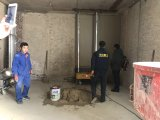 전기 통제 벽 고약 박격포 시멘트는 기계를 만든다