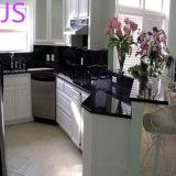Controsoffitti neri Polished prefabbricati del granito della galassia per la cucina