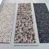 Negro/blanco/mezcló la estera hecha a mano de la piedra del suelo del color