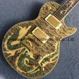 Guitarra elétrica do Lp do costume com molusco da califórnia Fretboard embutido dinossauro (GLP-626)