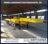 3axles Gooseneck van het Vervoer van het graafwerktuig de Lage Semi Aanhangwagen van Lowbed van het Bed