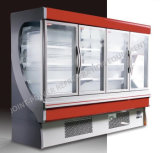 Visualizzazione del congelatore del portello di vetro/congelatore di frigorifero commerciali