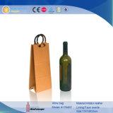 Casella di trasporto del sacchetto del singolo della bottiglia della visualizzazione vino classico del cuoio (1784)