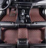 Stuoie Premium del pavimento dell'automobile del diamante 5D (il NERO CON COLORE ROSSO che CUCE) - land rover