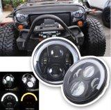 Fari mezzi di guidacarta del cerchio LED di J225 7inch 50W con il Hummer Harley della jeep di misure dei connettori di H4 H13