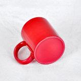 カスタムロゴの陶磁器のコップの磁器によって着色される艶出しのマグ