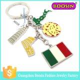 Fascino su ordinazione della bandierina dei monili dell'Italia del metallo del paese dello smalto di modo