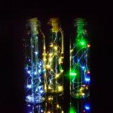 Botella de Vino Cork-Saped Solar LED String de la luz de 10 LEDs estrellada noche de luz Cuento de Navidad Decoración de brillantes luces de fiesta