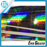Produits personnalisés de conception autocollant holographique adhésif ovale décoratif