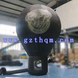 Новые рекламируя воздушные шары 6m раздувные черные земные/воздушный шар напольного раздувного промотирования земной