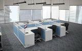Escritório moderno 2 Seater L estação de trabalho da divisória do escritório da mesa da forma (HF-J706)