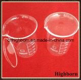口が付いている明確なホウケイ酸塩低い形式のガラスビーカー