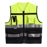 Correas reflexivas de los altos de la visibilidad de la seguridad en carretera bolsillos del uniforme que trabajan el chaleco
